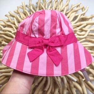 GIRLS GYMBOREE STRIPES SUMMER HAT WITH STRAPS